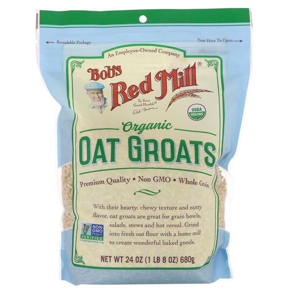 Bob's Red Mill, Органическая овсяная крупа, цельное зерно, 680г (24унции)
