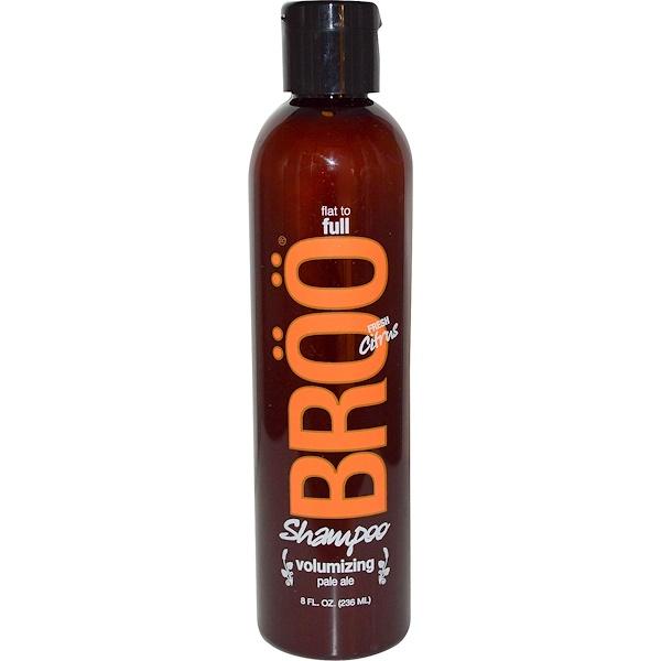 BRöö, Shampoo, Flat to Full, Volumizing Pale Ale, Fresh Citrus, 8 fl oz (236 ml) (Discontinued Item)