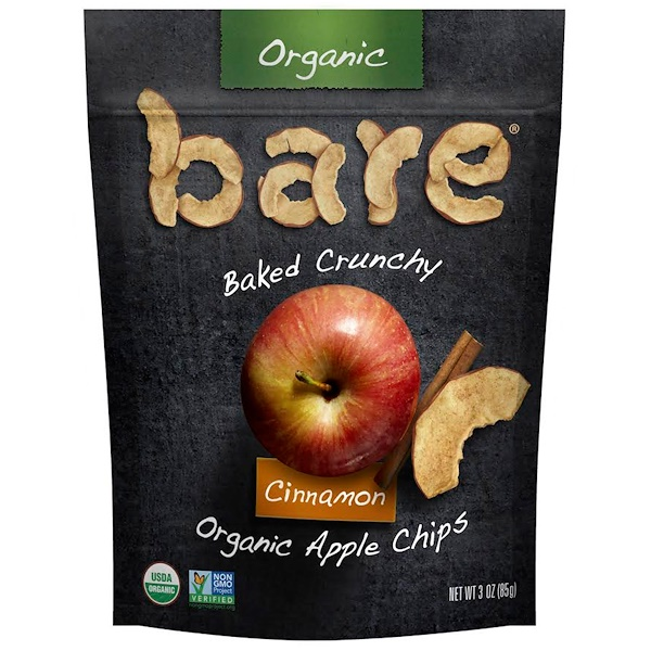 Bare Snacks, Baked Crunchy, Organic Apple Chips, Cinnamon, 3 oz (85 g) (Discontinued Item)