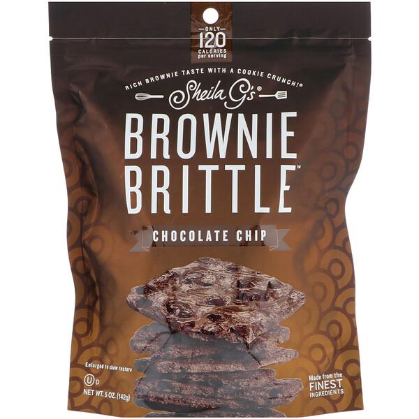 Brownie Brittle, шоколадные чипсы, 5 унц. (142 г)