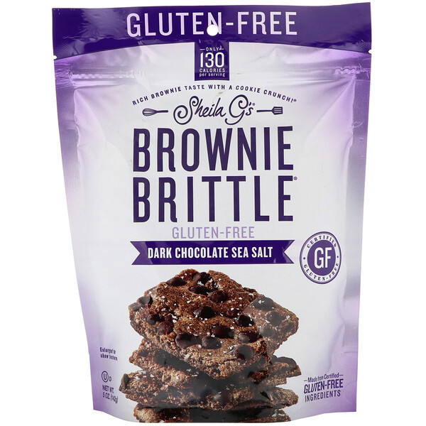 Sheila G's, Brownie Brittle, Gluten-Free, Dark Chocolate Sea Salt, 5 oz (142 g)