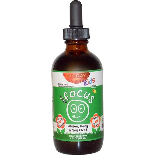 NDF Focus, капли для повышения внимания и удаления токсинов для детей, с цитрусовым вкусом, 120 мл (4 жидких унции)