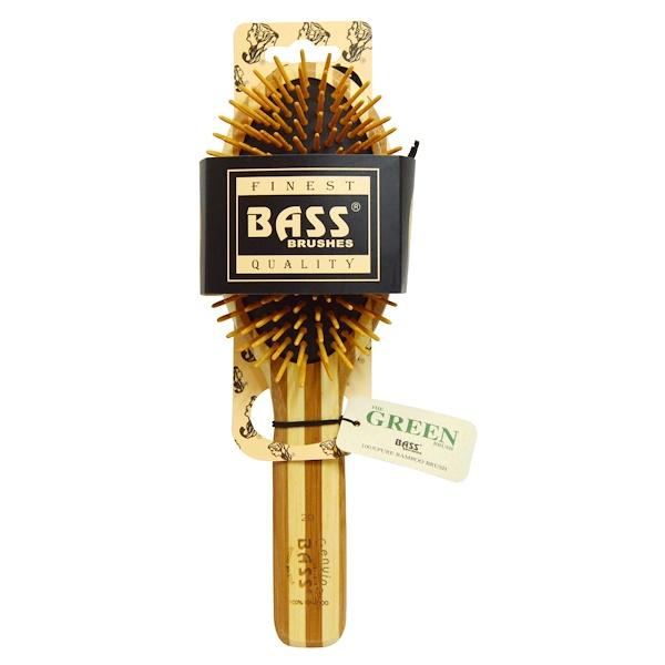 Bass Brushes, Большая овальная деревянная расчёска, 1 щётка для волос