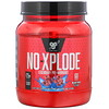 BSN, N.O.-Xplode, предтренировочный комплекс для повышения продуктивности, голубая малина, 1,11 кг (2,45 фунта)