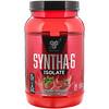 BSN, Syntha-6 Isolate, сухая смесь для приготовления протеиновых коктейлей, со вкусом клубники, 912г (2,01фунтов)