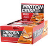 BSN, Protein Crisp, хрустящий батончик с карамелью и шоколадом, 12 батончиков по 58г (2,05 унции)