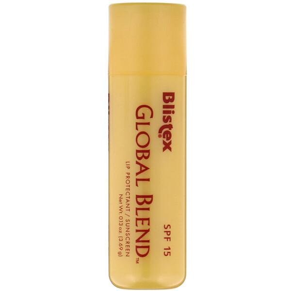 Global Blend, Lip Protectant/Sunscreen, SPF 15, 0.13 oz (3.69 g)