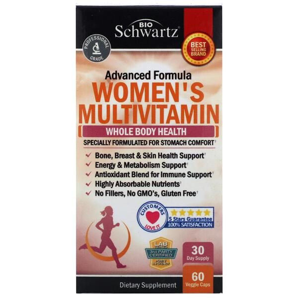 Advanced Formula, мультивитамины для женщин, 60растительных капсул