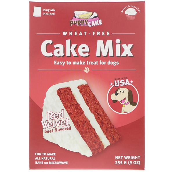 Puppy Cake, Печенье в ассортименте без пшеницы, для собак, красный бархат, со вкусом свёклы, 9 унц. (225 г) (Discontinued Item)