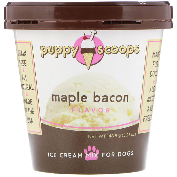 Puppy Cake, Мороженое для собак, вкус кленового бекона, 5,25 унций (148,8 г) (Discontinued Item)
