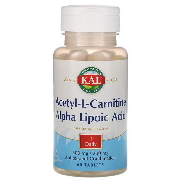 KAL, Acetyl-L-Carnitine & Alpha Lipoic Acid, 60 Tablets (Discontinued Item)
