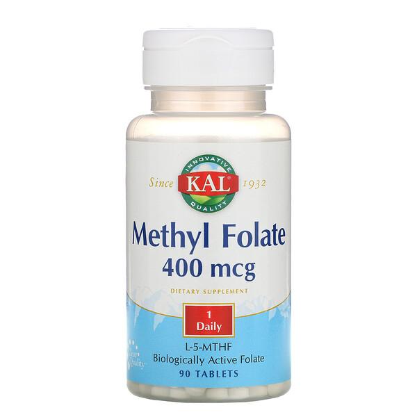 Метил фолат, 400 мкг, 90 таблеток