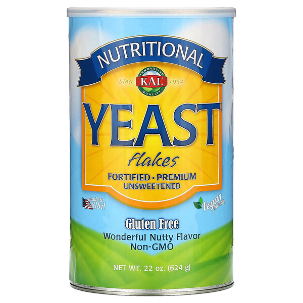 Nutritional Yeast Flakes, Wonderful Nutty Flavor, Unsweetened, 22 oz (624 g)