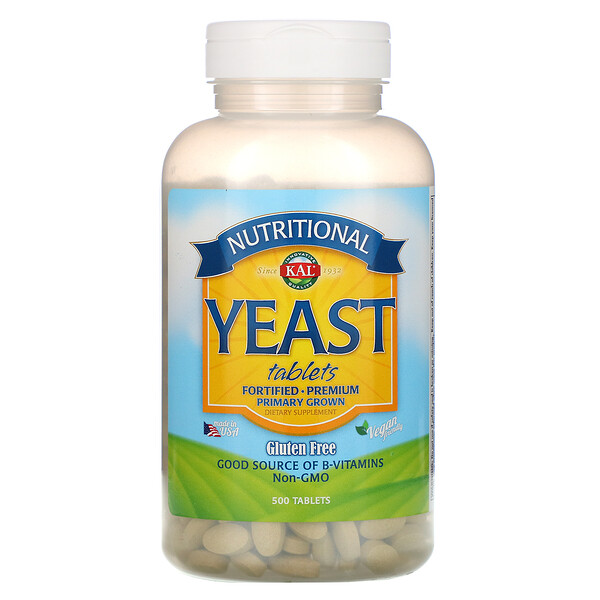Nutritional Yeast, 500 Tablets