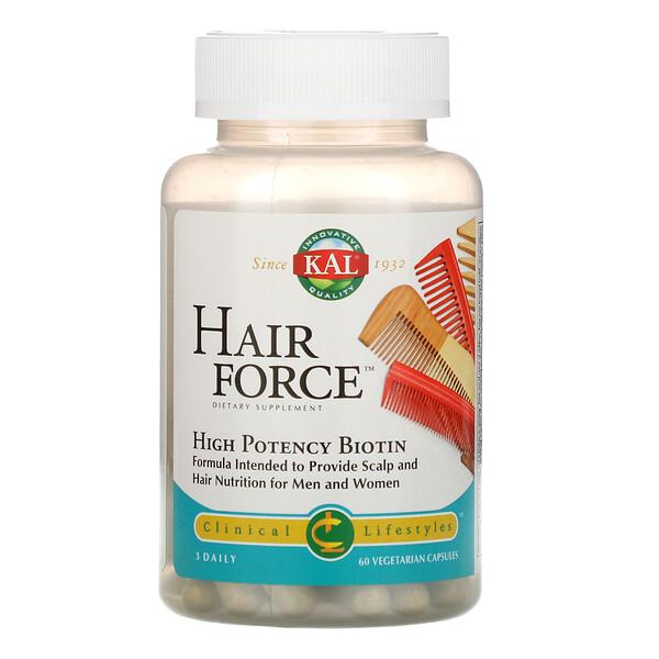 Hair Force, High Potency Biotin, 60 Vegetarian Capsules