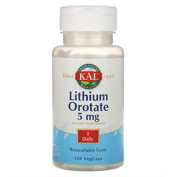 Оротат лития, 5 мг, 120 капсул