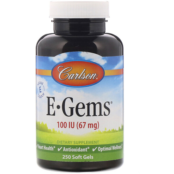 E-Gems, 67 mg (100 IU), 250 Softgels