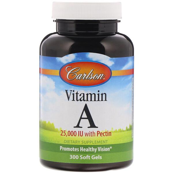 Carlson Labs, ВитаминA, 25 000МЕ, 300мягких таблеток