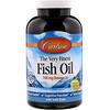 Carlson Labs, Рыбий жир с натуральным лимонным вкусом «The Very Finest Fish Oil», 700 мг, 240 мягких желатиновых капсул