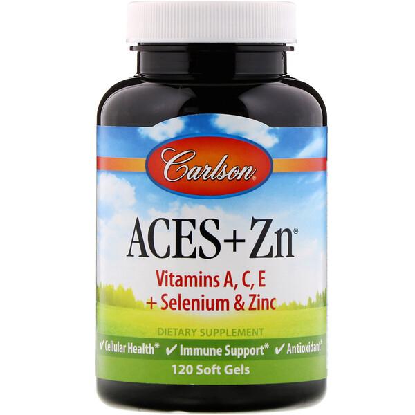 Carlson Labs, Aces + Zn, 120 мягких желатиновых капсул
