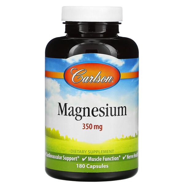 Carlson Labs, Магний, 350 мг, 180 капсул