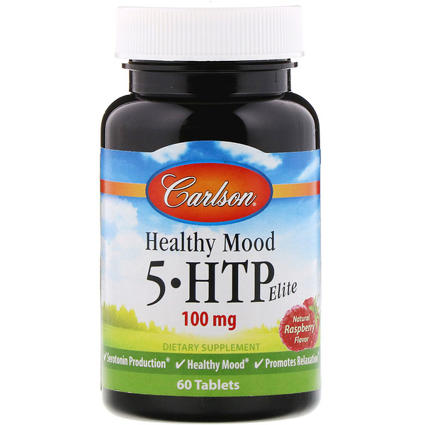 Healthy Mood, 5-HTP Elite, Natural Raspberry Flavor, 100 mg, 60 Tablets