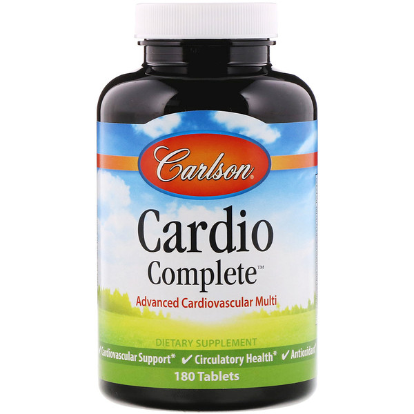Cardio Complete, Advanced Cardiovascular Multi, 180 Tablets