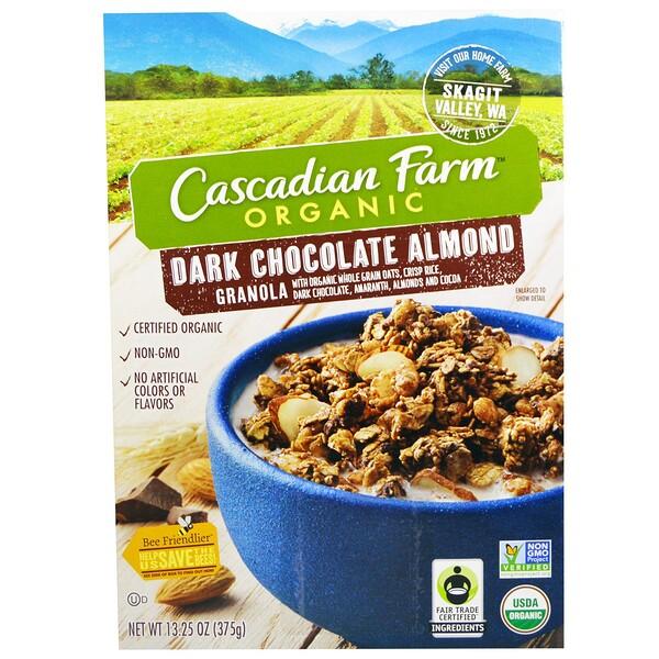 Гранола, органический темный шоколад с миндалем, 375 г (13,25 унции)