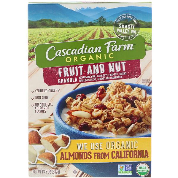 Органика, Гранола с фруктами и орехами, 13,5 унций (382 г)