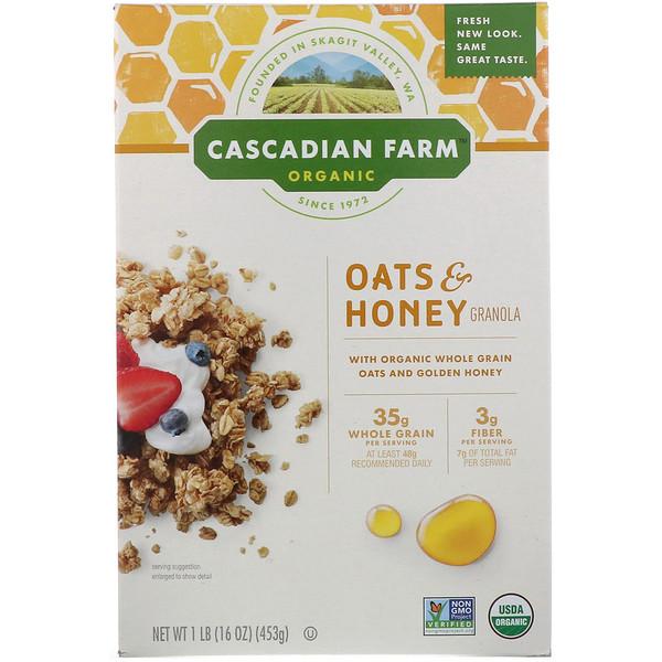 Органическая гранола с овсянкой и медом, 453г (16унций)