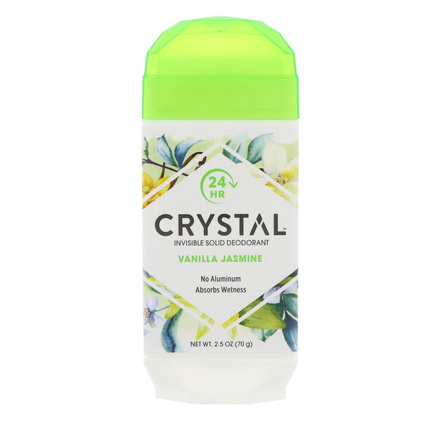 Невидимый твердый дезодорант, ваниль и жасмин, 70 г