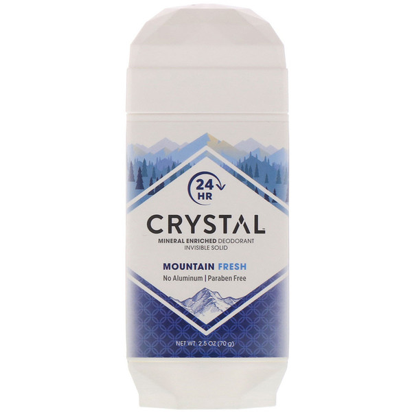 Mineral Enriched Deodorant Invisible Solid, Mountain Fresh, 2.5 oz (70 g)