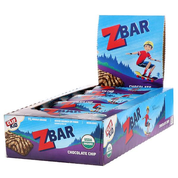 Clif Kid, Z Bar, органические батончики, со вкусом шоколадного печенья, 18батончиков, 36г (1,27унции) каждый