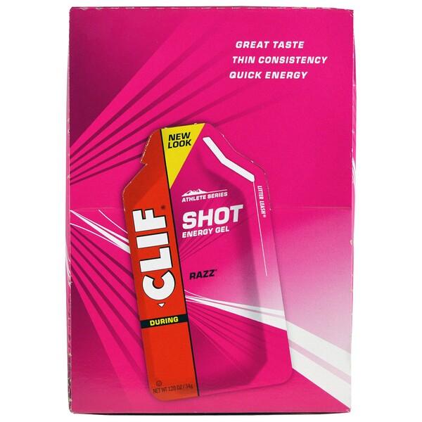Энергетический гель Shot, Razz, 24 пакета, весом 34 г (1,20 унции) каждый