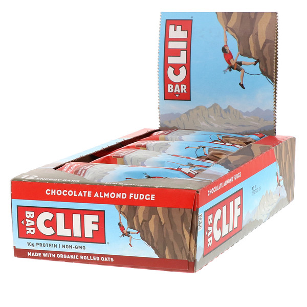 Clif Bar, Energy Bar, Chocolate Almond Fudge, 12 Bars, 2.40 oz (68 g) Each (Discontinued Item)