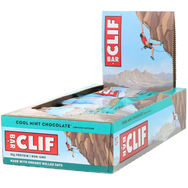 Energy Bar, прохладный мятный шоколад, 12 батончиков, 68 г (2,40 унции) каждый