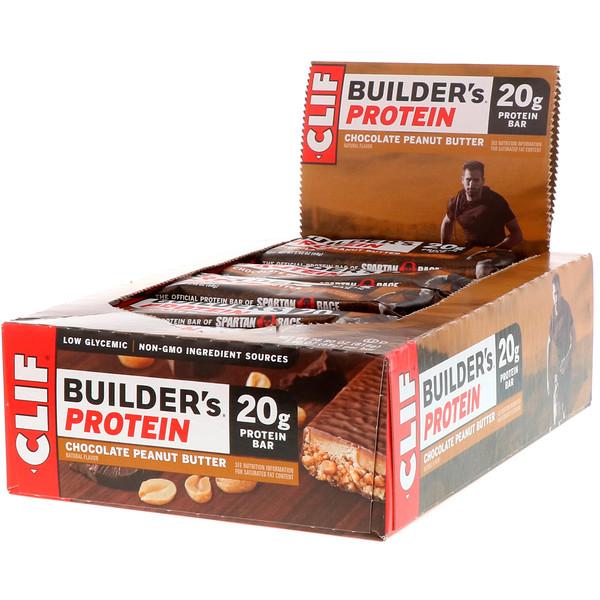 Протеиновый батончик Builder's с шоколадом и арахисовым маслом, 12 батончиков, весом 68 г (2,4 унции) каждый