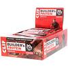 Clif Bar, Протеиновый батончик Builder's с шоколадом, 12 батончиков, весом 68 г (2,40 унции) каждый