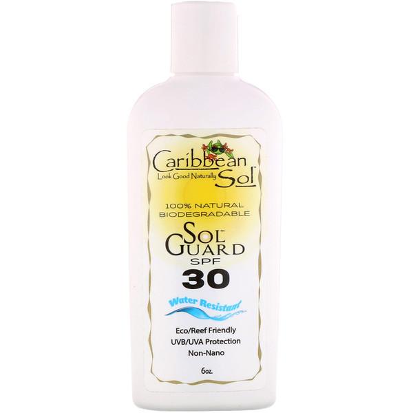 SolGuard SPF 30, водостойкий, 6 унц.