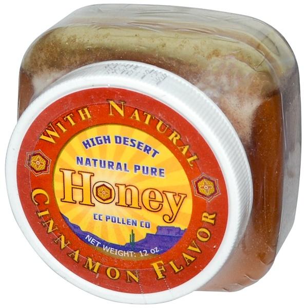 C.C. Pollen, High Desert, Natural Pure Honey, Natural Cinnamon Flavor, 12 oz (Discontinued Item)