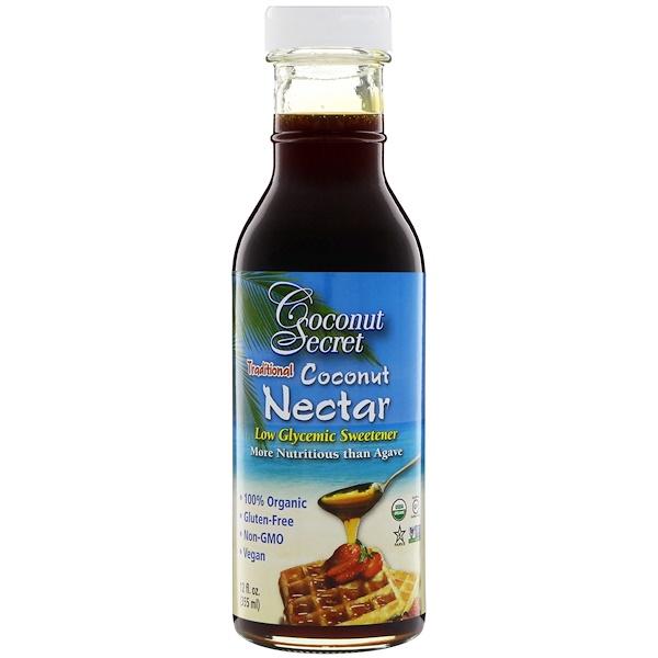 Традиционный кокосовый нектар, подсластитель с низким гликемическим индексом, 355 мл (12 ж. унц.)