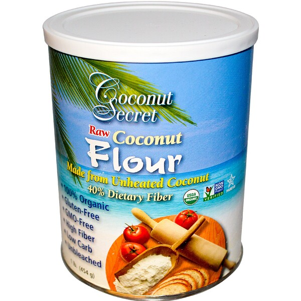 Сырая кокосовая мука, 454 г (1 фунт)