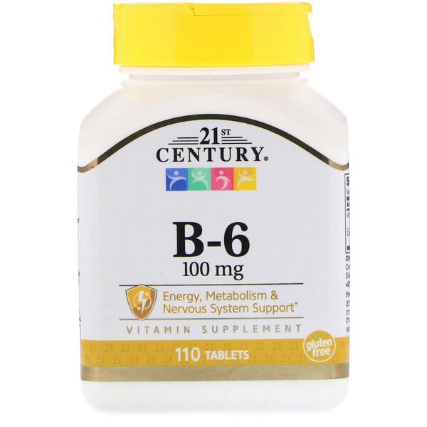 Витамин B6, 100 мг, 110 таблеток