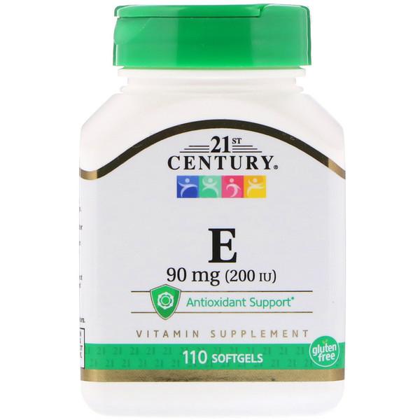 E, 90 mg (200 IU), 110 Softgels