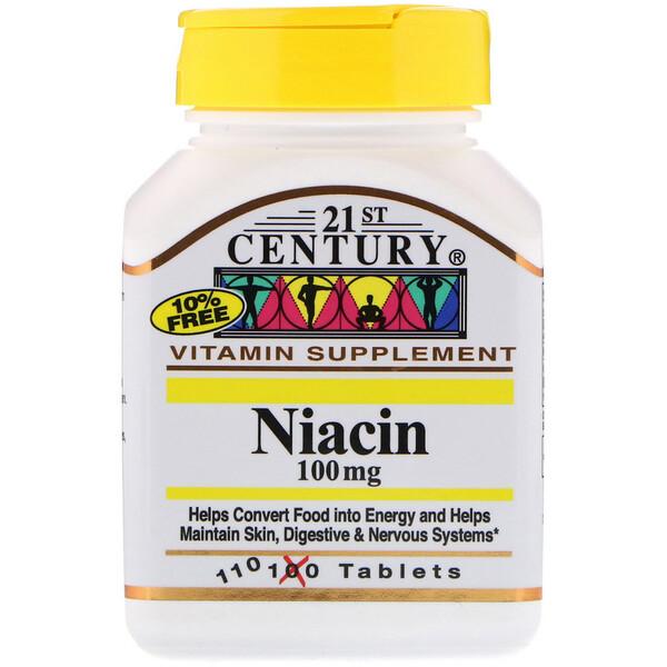 Ниацин, 100 мг, 110 таблеток