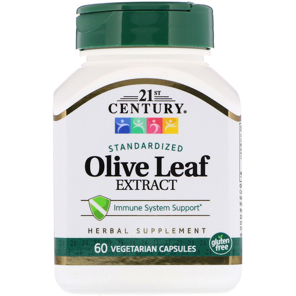 21st Century, Olive Leaf Extract, Standardized, 60 Vegetarian Capsules (Discontinued Item)