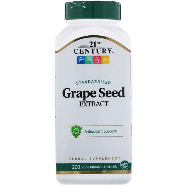 стандартизированный экстракт из косточек винограда, 200 вегетарианских капсул
