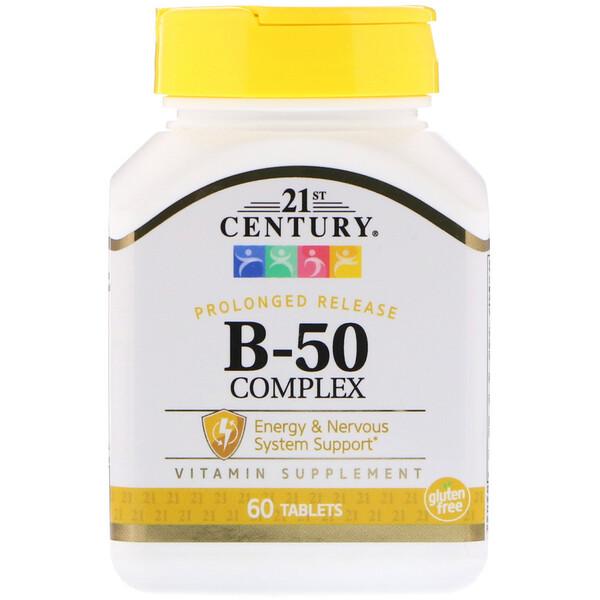 21st Century, Комплекс B-50 пролонгированного высвобождения, 60 таблеток