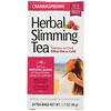 21st Century, Растительный чай для похудения, клюква и малина, без кофеина, 24 чайных пакетика, 45 г