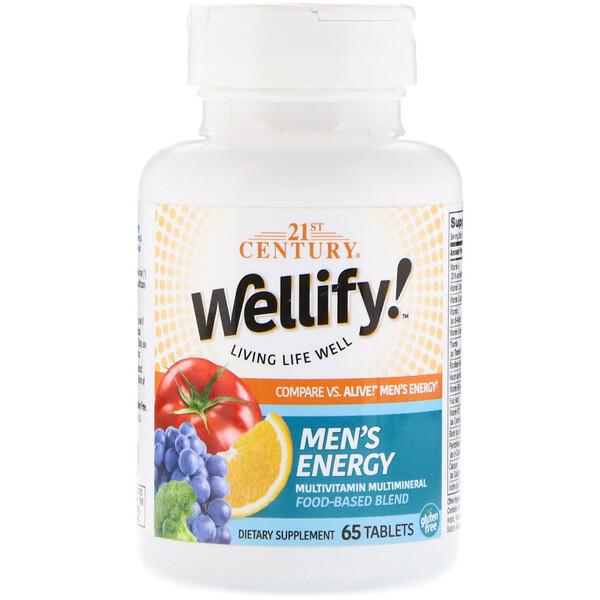 21st Century, Wellify! Men's Energy, 65 Tablets